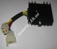 Реле зарядки Zongshen, Lifan 125/150 (3+3 провода) STAR