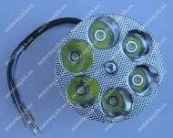Фара круглая светодиодная 6-LED, 80мм, TUNING