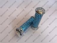 Ручки руля ( чешуя ) алюминиевые ( синие)