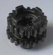 Шестерня первичного вала CB200 (а: 47mm, 21 зуба),    (b: 44mm,