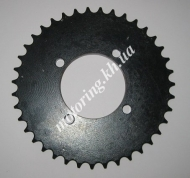 Звезда  задняя 428*38 YB 100 для мотоциклов  черная каленая (SHS