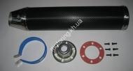 Глушитель (тюнинг)   420*100mm, креп. 78mm   (нержавейка, карбон