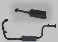 Глушитель (перед.+задний) трицикл MUSSTANG MT150/250-4V